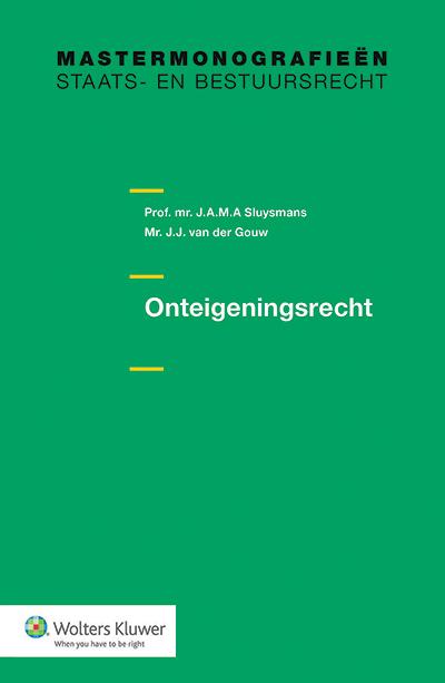 Onteigeningsrecht In deze monografie komt het Nederlandse onteigeningsrecht in volle omvang aan de orde. De auteurs bespreken de administratieve en de gerechtelijke procedure en het schadeloosstellingsrecht.  Alle belangrijke ontwikkelingen in wetgeving, rechtspraak en literatuur zijn verwerkt in deze uiterst leesbare uitgave.
