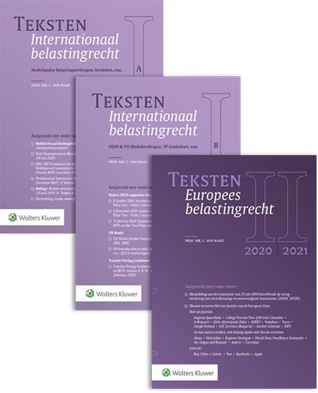 Teksten Internationaal & Europees belastingrecht <span>De bundels geven u een snel en compleet beeld van het internationale en Europese belastingrecht. Bestel ze hier als combinatie.</span>
