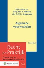 Algemene voorwaarden Deze uitgave is uitgegroeid tot het meest omvattende werk over algemene voorwaarden in Nederland. De nieuwe druk is volledig geactualiseerd, waarbij veel aandacht wordt besteed aan rechtspraak van het Hof van Justitie van de EU. Een ideaal naslagwerk voor de advocatuur, rechtspraak, het bedrijfsleven en consumentenorganisaties.