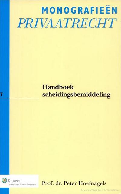 Handboek Scheidingsbemiddeling Het Handboek Scheidingsbemiddeling is alweer toe aan zijn derde druk en dat is niet zonder reden. Het boek neemt steeds vaker een centrale plaats in in de praktijk van de mediation.