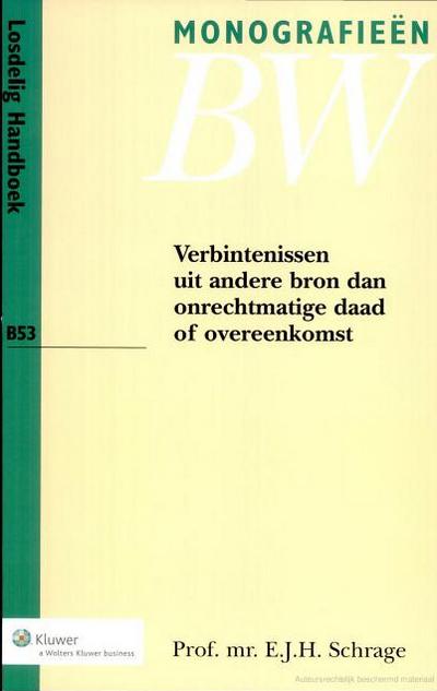 Verbintenissen uit andere bron dan onrechtmatige daad of overeenkomst Deze uitgave beschrijft het Nederlandse privaatrecht op het gebied van zaakwaarneming, onverschuldigde betaling en ongerechtvaardigde verrijking - en plaatst deze onderwerpen in een vergelijkend en historisch perspectief. Uiteraard komen de laatste ontwikkelingen op nationaal, internationaal en supranationaal niveau daarbij uitgebreid aan bod.
